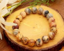 10.00mm 149.44Ct Natural Venus Jasper Beads Bracelet EN160