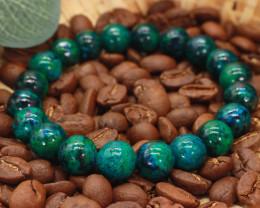 10.00mm 138.58Ct Natural  Chrysoclla  Beads Bracelet EN167