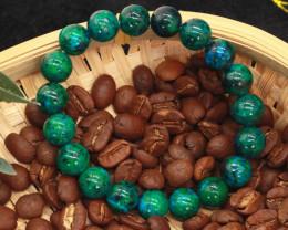 10.00mm 129.49Ct Natural  Chrysoclla Beads Bracelet EN168