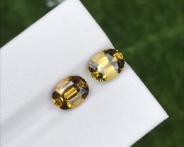 3.49 Cts Natural Golden Yellow Grossular Garnet – 8x6mm Pair