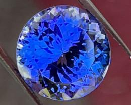 Tanzanite 11.60 ct round master cut gem.
