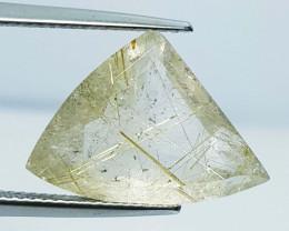 8.84 Ct Exclusive Gem Fancy Cut Natural Golden Rutile Quartz