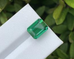 7.94 Cts Natural  Vivid Green Tourmaline – 10x8mm