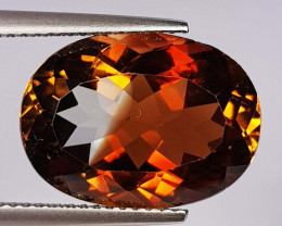11.01 Ct Top Quality Oval Cut Natural Champagne Topaz