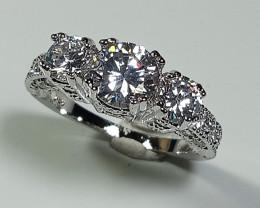 Natural Zircon Gemstone Silver Ring