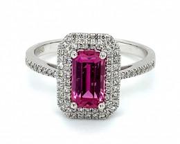 Pink Umba Sapphire 1.60ct Natural Diamonds Solid 950 Platinum Ring