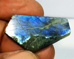23.05 ct Natural Labradorite Slice Fancy Cut  Gemstone