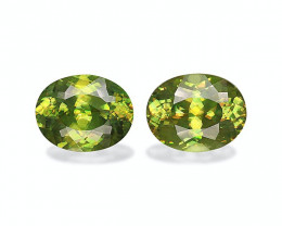 4.40 Cts Natural Green Sphene – 9x7mm Pair Madagascar