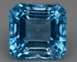 36.56 Cts Natural Blue Topaz Top Color Gemstone With Ascher Cut