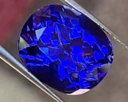 Tanzanite 18.06 ct vivid blue rectangular cushion cut