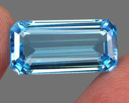20.48 ct. 100% Natural Earth Mined Top Quality Blue Topaz Brazil