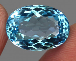 18.35  ct. 100% Natural Earth Mined  Blue Topaz Brazil