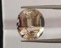8.35 carats, Natural Rutilated Topaz.