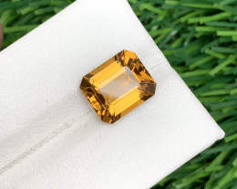4.20 Carats Beautiful Color Citrine cut stone Available for sale