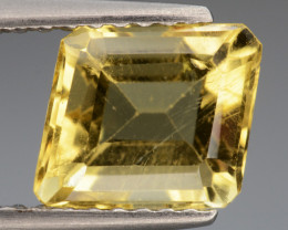 1.58 Cts, Natural Heliodor Top Color Gemstone.
