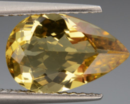 2.01 Cts, Natural Heliodor Top Color Gemstone.