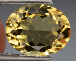 2.19 Cts, Natural Heliodor Top Color Gemstone.