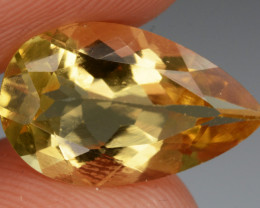 2.23 Cts, Natural Heliodor Top Color Gemstone.