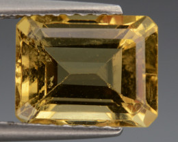 2.34 Cts, Natural Heliodor Top Color Gemstone.
