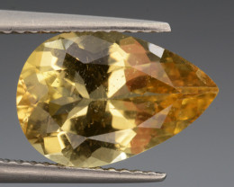 3.17Cts, Natural Heliodor Top Color Gemstone.