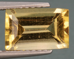 1.61 Cts, Natural Heliodor Top Color Gemstone.