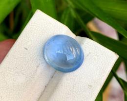 NR - 8.00 Carats Blue Aquamarine Cabochon Gemstone