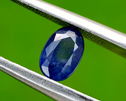 0.95CT BLUE SAPPHIRE HEAT BE BEST QUALITY GEMSTONE IIGC94