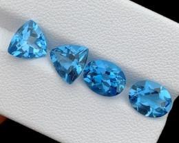 8.36 Cts Natural Blue Topaz Gemstone parcel  Good Luster London blue