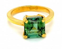 Paraiba Tourmaline 4.60ct Solid 22K Yellow Gold Ring