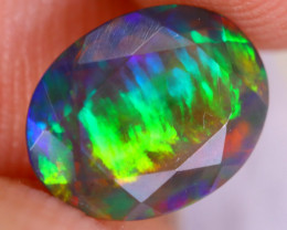 1.11cts Natural Ethiopian Welo Faceted Smoked Opal / MA2056