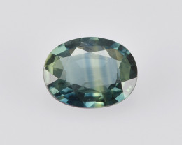 Teal Sapphire 0.59 Cts Unheated Natural Bi-Color Gemstone