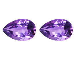 6.02 Cts Paired Natural Purple Amethyst Loose Gemstone