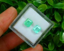 Muzo 1.87Ct 2Pcs Natural Colombian Green Color Muzo Emerald A2518