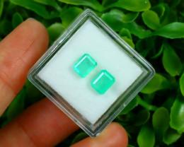 Muzo 1.58Ct 2Pcs Natural Colombian Green Color Muzo Emerald A2524