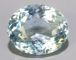 4.20 cts - Sparkling Luster - oval Gem - Natural Fine aquamarine