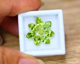 5.45ct Natural Green Peridot Pear Cut Lot V8200