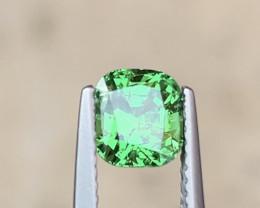 Screaming Green Tsavorite Garnet. 1.55ct natural Cushion cut Gemstone.