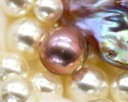 12.80mm 14.76Ct Natural Tahitian Cherry Color Pearl E2932/A244