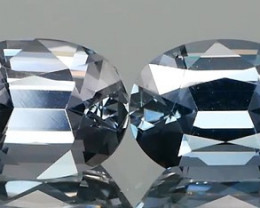 Perfectly Cut Grey Spinel Pair 2.58Ct.