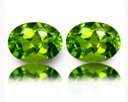 4.00Cts Genuine Excellent Natural Peridot 9X7mm Oval Matching Pair