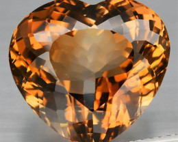19.24  ct. 100% Natural Earth Mined Top Quality Topaz Orangey Brown Brazil