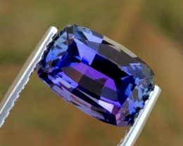 4.20Ct Unheated Tanzanite - Competition Level Cut - Loupe Clean