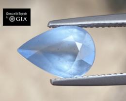 2.98ct GIA Kyanite - Silky Greenish Blue / 11.32 x 7.64mm / Certified