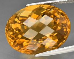 24.20  ct. Top Quality Natural Golden Yellow Citrine Brazil Unheated