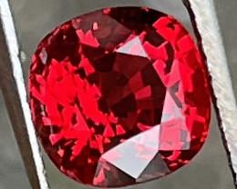 2.28 ct Luc Yen vivid red spinel.