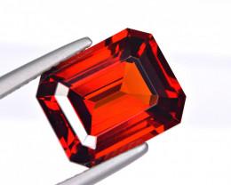 Flawless 7.37Ct Spessartite Garnet Brilliant Precision Cut Gemstone