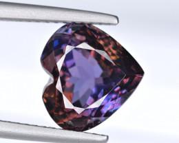 Flawless 5.15 Carat Multi Tanzanite Heart Shape Cut Gemstone