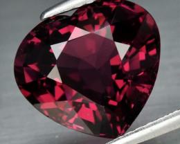 Twinkling! 5.89 ct VVS Natural Earth Mined Purplish Pink Rhodolite Garnet,