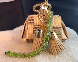 Peridot Sterling Silver Tennis Bracelet