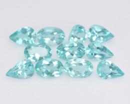 Neon Green Apatite 5.33 Cts 11 Pcs Un Heated Natural Loose Gemstone